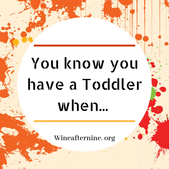 You know you have a toddlerwhen…