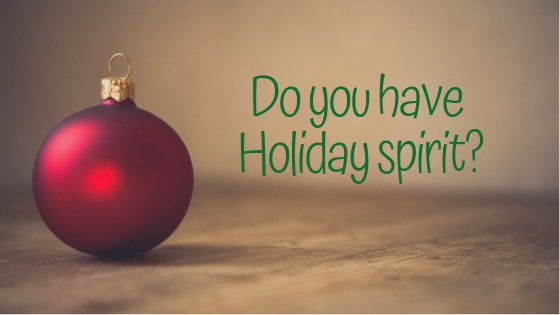 Do you have Holiday spirit_