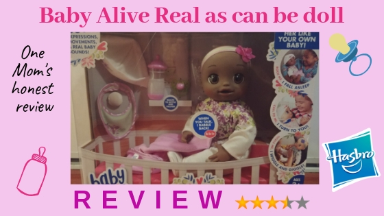 Baby Alive Real as can be doll REVIEW