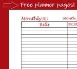 monthly bills