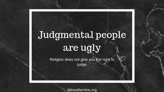 Judgmental people areugly